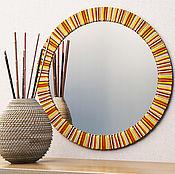 Для дома и интерьера ручной работы. Ярмарка Мастеров - ручная работа Круглое зеркало. Handmade.