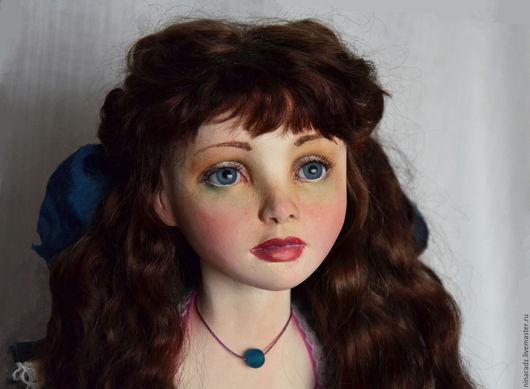 Коллекционные куклы ручной работы. Ярмарка Мастеров - ручная работа. Купить Алиса в стране чудес. Handmade. Синий, кукла из паперклея