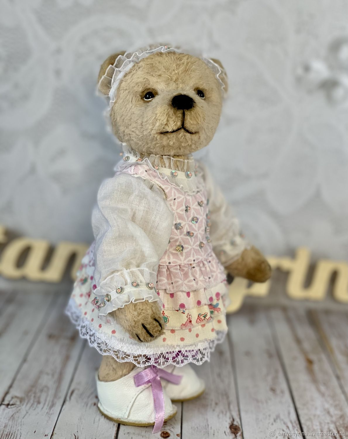 Teddy bear girl in dress, Teddy Bears, Moscow,  Фото №1