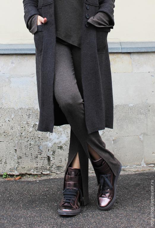 R00036 Брючки спортивные штаны трикотажные спортивный стиль комфорт  спорт шик брюки клеш леггинсы брюки на резинке дизайнерские брюки стильная одежда стиль Casual леггинсы трикотажный костюм
