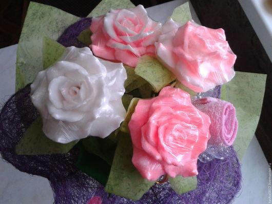 Мыло ручной работы. Ярмарка Мастеров - ручная работа. Купить Букет из мыла. Handmade. Комбинированный, розы, букет из мыла