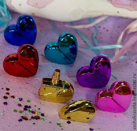 """Упаковка ручной работы. Ярмарка Мастеров - ручная работа. Купить Флакон для духов """"Сияющее Сердце"""", 25 мл (стекло). Handmade."""