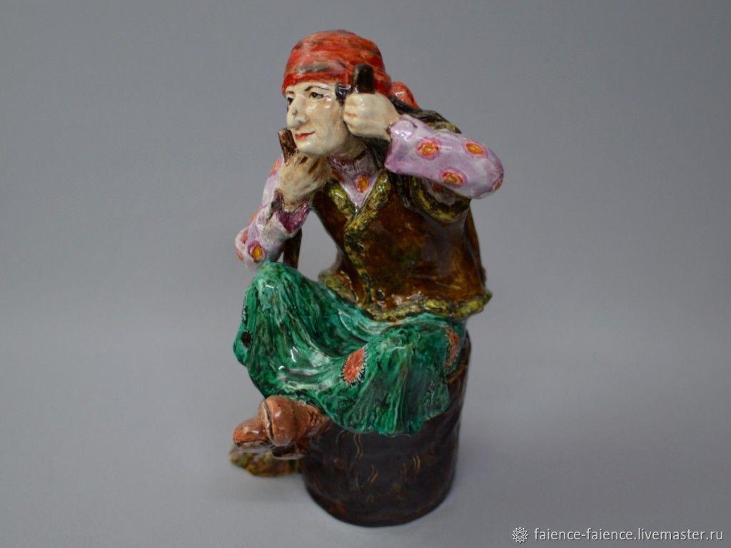 "Фаянсовая скульптура ""Баба Яга"", Статуэтки, Конаково,  Фото №1"