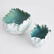 Посуда ручной работы. Ярмарка Мастеров - ручная работа декоративные авторские вазы в морском стиле. Handmade.