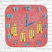 Для дома и интерьера handmade. Livemaster - original item Houses Clock wall 30 x 30 cm.. Handmade.