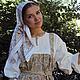 Одежда ручной работы. Платье-сарафан. СЛАВный стиль от Заряны. Интернет-магазин Ярмарка Мастеров. Сарафан, славянская рубаха