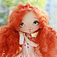 Коллекционные куклы ручной работы. Ярмарка Мастеров - ручная работа. Купить Рыжая лисичка. Handmade. Бежевый, Рыжая, веснушки, глина