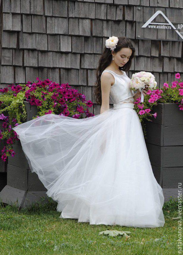 Раздельное свадебное  юбка и топ купить