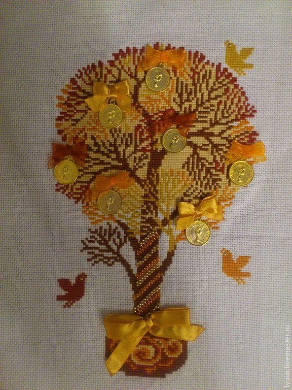 Вышивка крестом бесплатно денежное дерево