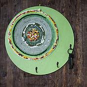 """Для дома и интерьера ручной работы. Ярмарка Мастеров - ручная работа Панно-вешалка-ключница """"Круговерть"""". Handmade."""