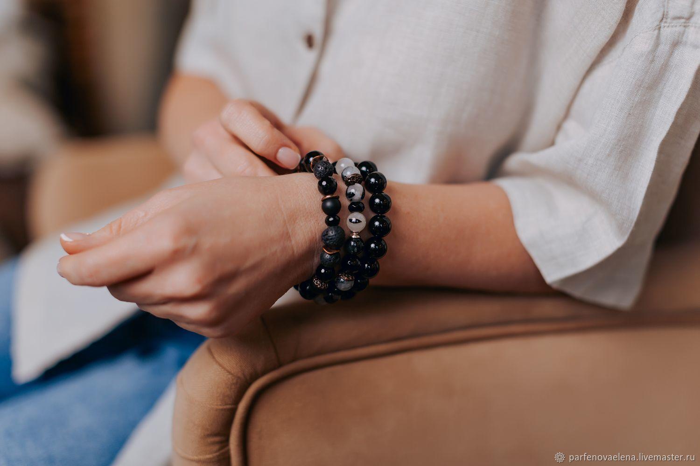 Bracelets with quartz ' Andromeda Nebula', Bead bracelet, Omsk,  Фото №1