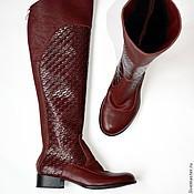 """Обувь ручной работы. Ярмарка Мастеров - ручная работа Сапоги """"Плетенка"""". Handmade."""