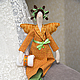Куклы Тильды ручной работы. Ярмарка Мастеров - ручная работа. Купить Тильда Банный Ангел. Handmade. Оранжевый, бязь тонированная