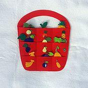 Куклы и игрушки ручной работы. Ярмарка Мастеров - ручная работа Корзинка с фруктами. Handmade.