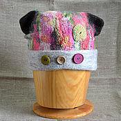 """Аксессуары ручной работы. Ярмарка Мастеров - ручная работа """"Пуговки"""" шапка. Handmade."""