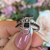 Украшения handmade. Livemaster - original item Silver ring with cubic zirconia