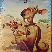 """""""Забавные кенгуру :-)""""Часы настенные,картины и панно"""