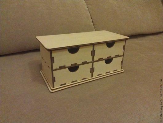 Мини-комод с 4-мя ящиками