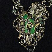 Украшения ручной работы. Ярмарка Мастеров - ручная работа Кулон Зеленая магия винтаж. Handmade.