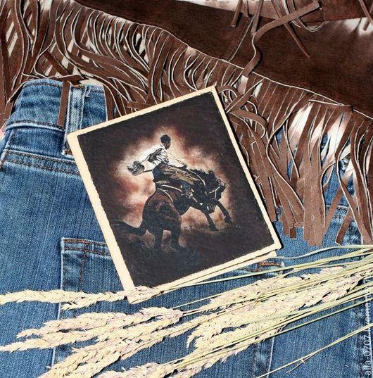 """Кошельки и визитницы ручной работы. Ярмарка Мастеров - ручная работа. Купить Визитница """"Wild, Wild West"""". Handmade. Ковбой, кардхолдер"""