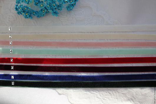 Шитье ручной работы. Ярмарка Мастеров - ручная работа. Купить Бархатная лента, 10 мм. Handmade. Бархатная лента, полиэстр