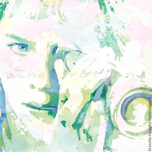 Портрет по фото в технике аква-постер.