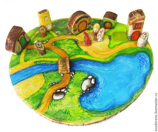 """Развивающие игрушки ручной работы. Ярмарка Мастеров - ручная работа. Купить Игровой набор """"Волшебная полянка"""". Handmade. Комбинированный"""