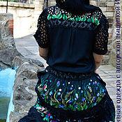 """Одежда ручной работы. Ярмарка Мастеров - ручная работа ВЫШИТЫЙ платье КОСТЮМ""""ЯРКИЕ ЦВЕТЫ В НОЧИ""""авторская работа. Handmade."""