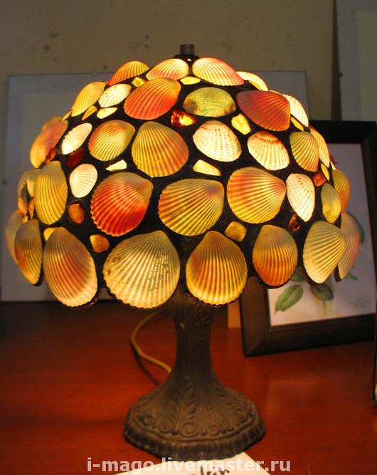 """Освещение ручной работы. Ярмарка Мастеров - ручная работа. Купить Лампа """"Морские причуды"""".. Handmade. Лампа, светильник, ночник, раковины"""