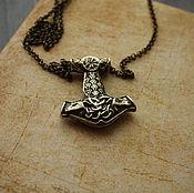 Украшения handmade. Livemaster - original item Pendant necklace Thor`s Hammer pendant Thor`s Hammer ,bronze hammer. Handmade.