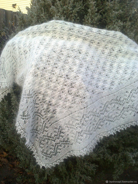 Downy openwork shawl ' Snowfall -2', Shawls1, Mikhailovka,  Фото №1