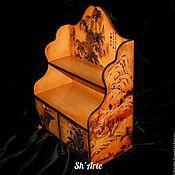 Для дома и интерьера handmade. Livemaster - original item Mini chest of drawers Chinese landscape. Handmade.