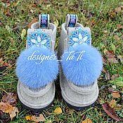 """Обувь ручной работы. Ярмарка Мастеров - ручная работа Валенки, модель """"Зимняя Краса"""". Handmade."""