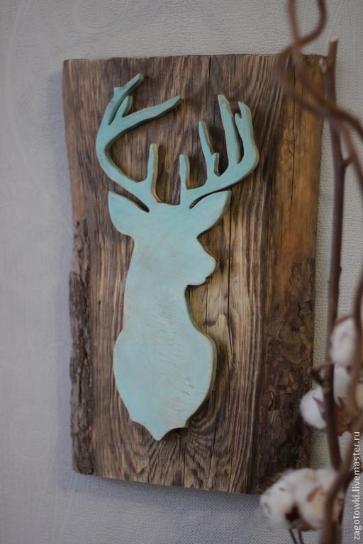 """Животные ручной работы. Ярмарка Мастеров - ручная работа. Купить Панно """"Северный олень"""". Handmade. Панно на стену, лесной житель"""