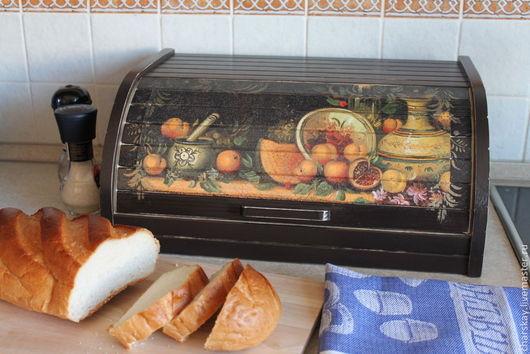 Кухня ручной работы. Ярмарка Мастеров - ручная работа. Купить Хлебница. Handmade. Разноцветный, деревянная хлебница