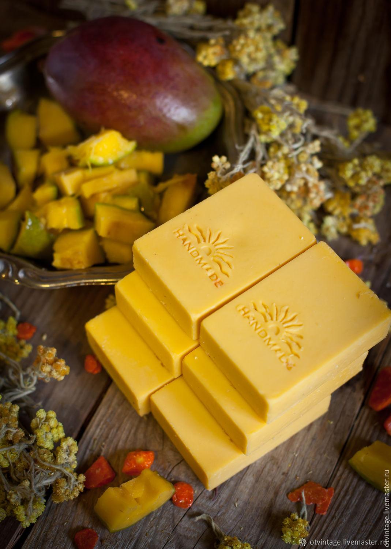 """Мыло ручной работы. Ярмарка Мастеров - ручная работа. Купить Натуральное мыло """"Mango & Lemon"""" с маслами манго и облепихи. Handmade."""
