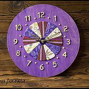 """Для дома и интерьера ручной работы. Ярмарка Мастеров - ручная работа Часы """"Фиолетовые дольки"""". Handmade."""