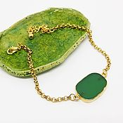 Украшения handmade. Livemaster - original item Bracelet a Green leaf. Handmade.
