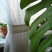 Для дома и интерьера ручной работы. Ярмарка Мастеров - ручная работа Вышитый подхват для штор. Handmade.