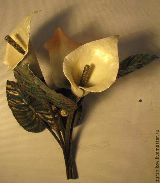 """Освещение ручной работы. Ярмарка Мастеров - ручная работа. Купить Кованый светильник - бра """" Каллы"""". Handmade. Бра"""