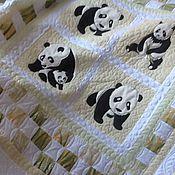 """Для дома и интерьера ручной работы. Ярмарка Мастеров - ручная работа Одеяло """"Панды"""". Handmade."""