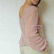 Одежда ручной работы. Ярмарка Мастеров - ручная работа Rose Antique. Пудровый джемпер с вырезом на спине. RES.. Handmade.
