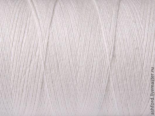 """Другие виды рукоделия ручной работы. Ярмарка Мастеров - ручная работа. Купить Нитки для ткачества""""Хлопко-Лён"""" - белый.. Handmade. Белый"""