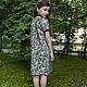 Одежда для девочек, ручной работы. Платье с ежевикой. Vera Olshvang. Интернет-магазин Ярмарка Мастеров. Орнамент, детское платье