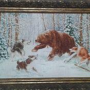 """Картины ручной работы. Ярмарка Мастеров - ручная работа Картины: """"Встреча в лесу"""". Handmade."""