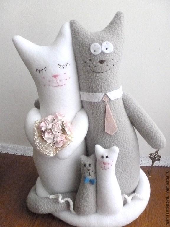 Выкройка котов обнимашек свадебных