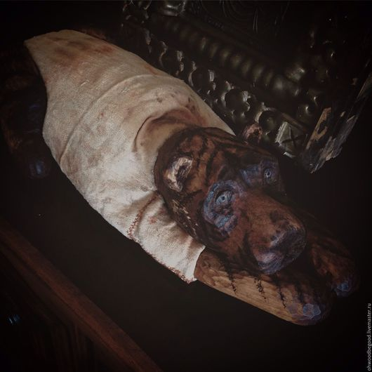 Коллекционные куклы ручной работы. Ярмарка Мастеров - ручная работа. Купить Тигр Вася большой деревянный из полена липы ручная работа дерево. Handmade.