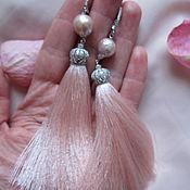 Серьги кисти с жемчугом касуми лайк, серебро 925