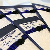 Свадебный салон ручной работы. Ярмарка Мастеров - ручная работа Приглашение (арт.0019). Handmade.