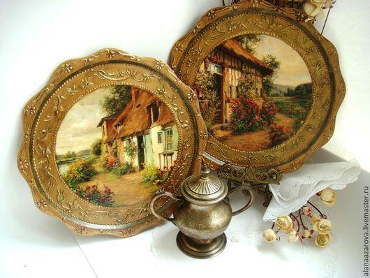 Декоративная настенная тарелка Домик мечты Алана Азарова ручная работа